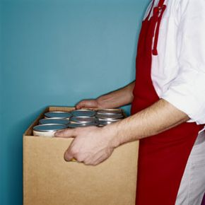 Depending on how it's stored, canned and boxed food can last a long time. See more boxed food pictures.