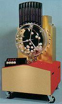 A gravity-pick Lotto machine
