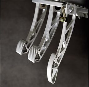 The Elise's race-car-style pedals