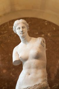 The Venus de Milo in the Louvre.