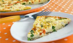 A slice of vegetable frittata can be just the thing to cut the salt. See more light dinner pictures.