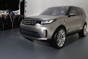 The Discovery Vision Concept, Land Rover's design vision for a family of new premium SUVs, made its global debut at an exclusive event in New York City at the Intrepid Sea, Air and Space Museum in 2014.