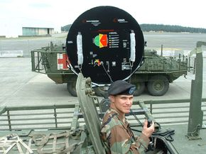 The back of the LRAD has handles so people can direct the majority of the sound it creates.