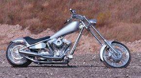 The customized LSC chopper has a hardtail frame. See more motorcycle pictures.