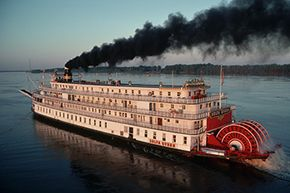 Never one for staying in the same place long, Barnum spent a few seasons entertaining customers on a riverboat..