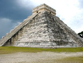 A Mayan pyramid at Chichen Itza, Mexico. See more pictures of pyramids.