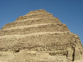 The stepped pyramid of Djoser. See more pictures of Egyptian pyramids.