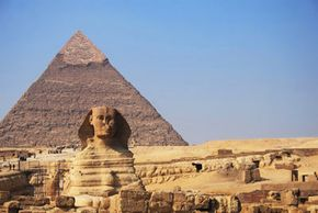 on the Giza plateau in Egypt.