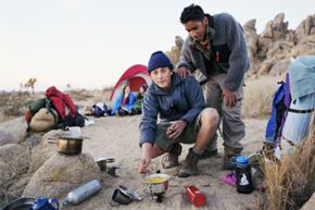 Camping in the Mojave Desert