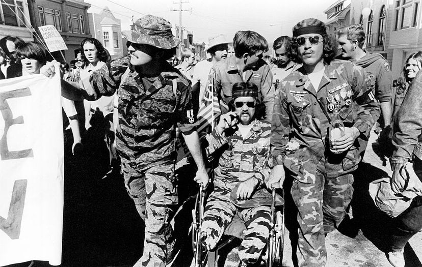 Vietnam veterans (including one in a wheelchair) take part in an anti-Vietnam war march in San Francisco in 1970. Harold Adler/Underwood Archives/Getty Images