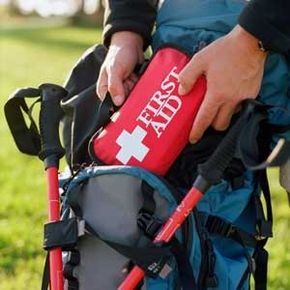 Make sure to pack your first aid kit where it'll beeasy to reach in an emergency.