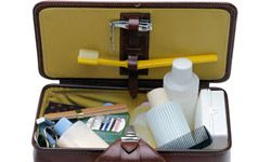 A separate compartment can keep your toiletries organized.