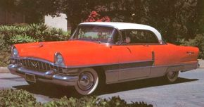 The 1955 Packard, shown as a Four Hundred, got a new engine and problematic transmission. See more classic car pictures.