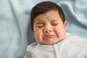 Doctors have to rely on observations of pain-related behavior in patients -- like this upset baby -- who can't communicate their pain any other way.