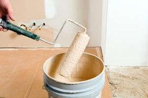 Using a paint roller