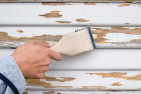 Use a putty knife to remove loose or peeling paint from your surface.