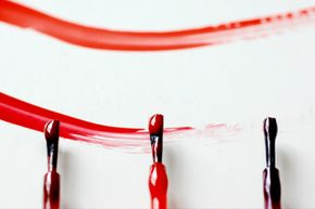 From a health perspective, painting your walls with nail polish is not a good idea (and it would be really expensive).