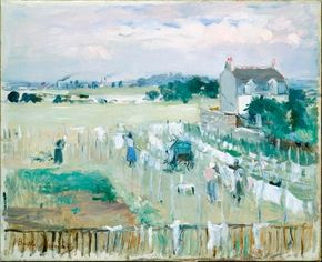 Berthe Morisot's Hanging the Laundry out to Dry (oil on Gallery of