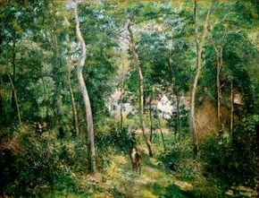 Edge of the Woods by Camille Pissarro (oil on canvas, 49-5/8x Cleveland Museum of Art.