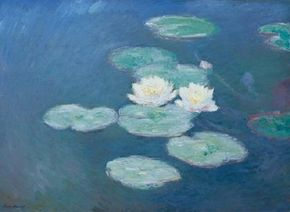 While living in Giverny, Monet first began his obsession with water lilies.