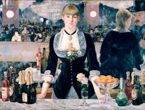 Edouard Manet's A Bar at the Folies Bergere                              (oil on canvas, 37-3/4x51-1/4 inches)                                            is shown at the Courtald Institute Gallery in London.