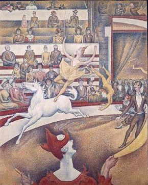 Georges Seurat's The Circus (oil on canvas, 73x 59-1/8 inches)