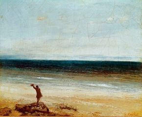 The Edge of the Sea at Palavas by Gustave Courbet is an oil on canvas (10-3/8 x 18-1/8 inches) that is housed in Musée Fabre, Montpellier, France.
