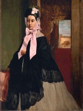 Hilaire-Germain-Edgar Degas's Portrait of Thérèse Degas is an oil on canvas (35 x 26-3/8 inches), which can be seen at Musée d'Orsay, Paris.