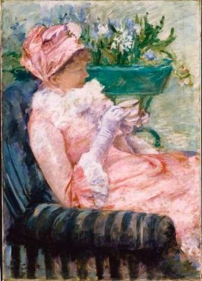 The Cup of Tea by Mary Cassatt (oil on canvas, 36-3/8x Museum of Art