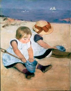 Children Playing on the Beach by Mary Cassatt (oil on canvas, Washington, D.C.'s National Gallery of Art).