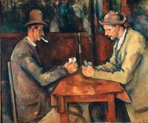 The Card Players by Paul Cézanne 18-3/4x22-1/2 in Paris.