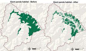 panda habitat change map