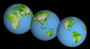 Are the seven continents the ultimate rock breakup? See Google Earth pictures.