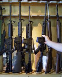 Depending on what you're using your panic room for, you might stock it with guns.