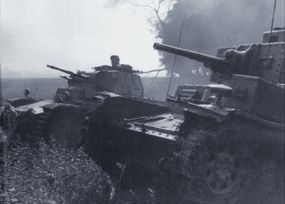 In this rare photo, a Panzerkampfwagen 38(T) can be seen moving in advance of a Panzerkampfwagen II during the invasion of France in May and June 1940.