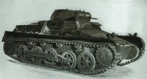 The German Panzerkampfwagen I light tank was originally intended as a training tank. It was armed only with two machine guns.