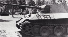 The 45-ton Panzerkampfwagen V Panther medium tank was built by Nazi Germany to counter the Soviet T-34.