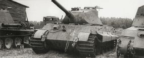 In August 1942, specifications were issued for a new model tank. Early production tanks, such as this one, carried a turret designed and built by Porsche.
