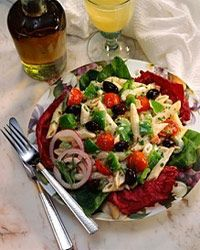 Pasta salad is a versatile and delicious addition to any dinner party or cookout.