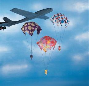 Make the parachute pizazz paper parachute.