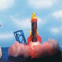 Make the rocket power paper rocket.