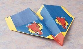 Fold up both wing tips.