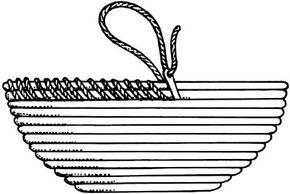 Clothesline Basketry Paper Art Craft