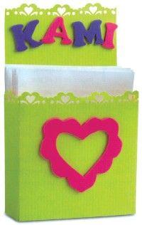 Make a note card holder.