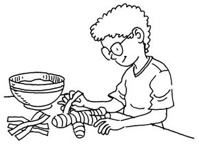 You will cover the doll with newspaper strips dipped in paste.