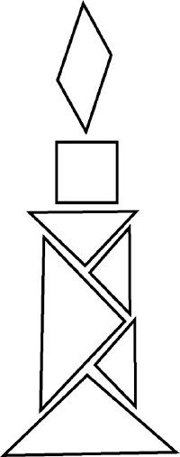 A tangram can create many different shapes.