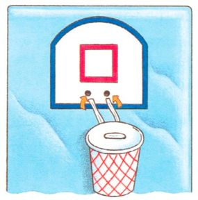Mount the basket onto the board with a twist tie.
