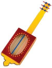Strum along on a banjo box.
