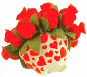 Decorate a mini flowerpot with hearts.