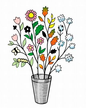 Four Seasons Tree paper planter